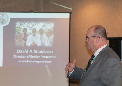 Speaker David Shallcross of the Pennsylvania Office of Attorney General's Office